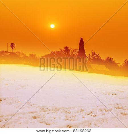 Sunnet Ann Snow View Of Pagoda In Thailand