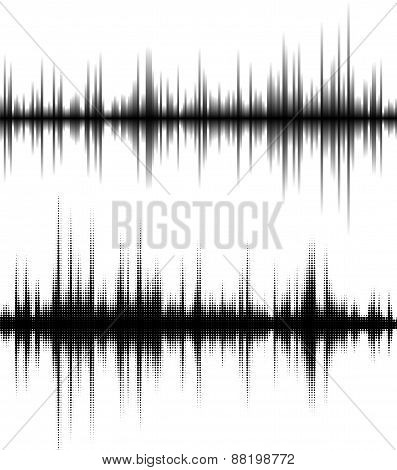 Waveform background.