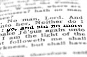 foto of scriptures  - Scripture in New Testament in Bible Go and Sin No More - JPG