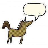 pic of unicorn  - cartoon unicorn with speech bubble - JPG