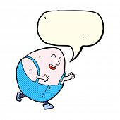 picture of nursery rhyme  - cartoon egg character with speech bubble - JPG