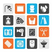 picture of personal care  - Silhouette Bathroom and Personal Care icons - JPG