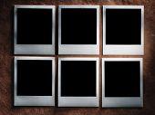 stock photo of polaroid  - polaroid style photo frames on the very vintage paper - JPG
