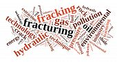 picture of shale  - Illustration with word cloud related to fracking - JPG