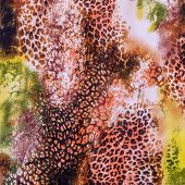 pic of leopard  - texture of print fabric striped leopard for background - JPG