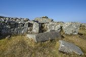foto of megaliths  - 5000 year old Cloughanmore megalith in Glencolmcille in Co - JPG