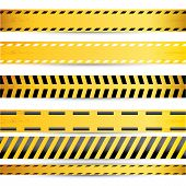 pic of law order  - Yellow security warning tapes set Caution - JPG