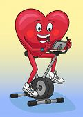 pic of exercise bike  - Exercise on a stationary bike very well strengthen the heart - JPG