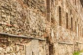 foto of carmelite  - Fortress Wall built of stone and brick of the monastery of the Order of Discalced Carmelites of the 17th century - JPG