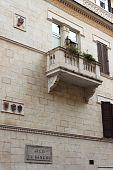 Medieval balcony