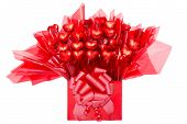 stock photo of sweethearts  - Colorful red gift of heart - JPG