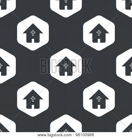 Black hexagon christian house pattern