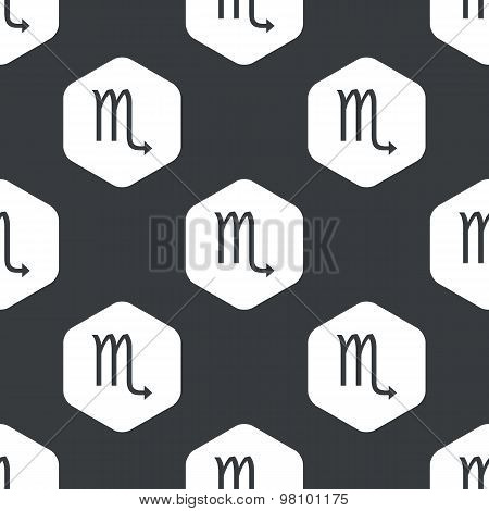 Black hexagon Scorpio pattern