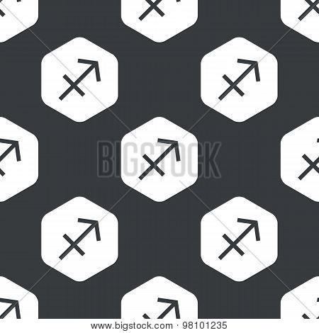 Black hexagon Sagittarius pattern