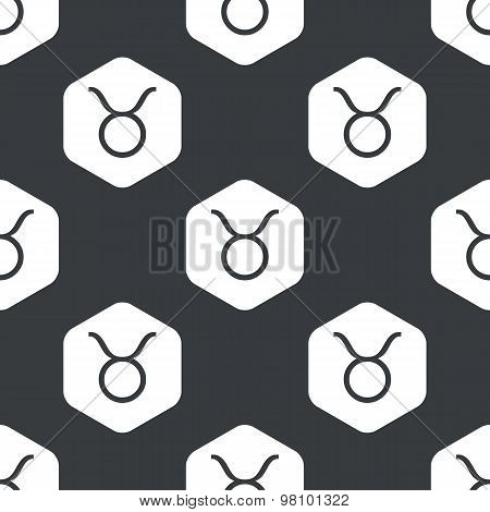 Black hexagon Taurus pattern