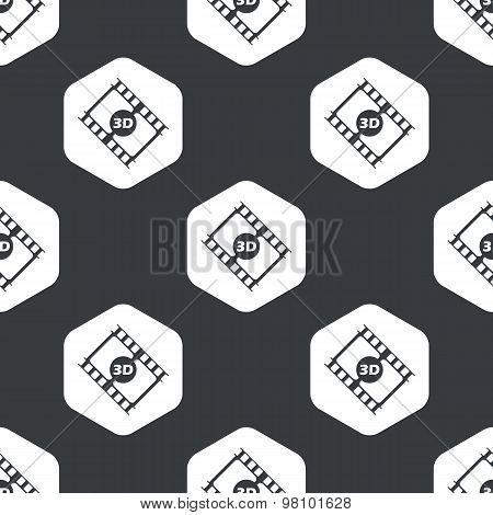 Black hexagon 3d movie pattern