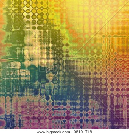 Abstract old background with rough grunge texture. With different color patterns: yellow (beige); purple (violet); red (orange); green