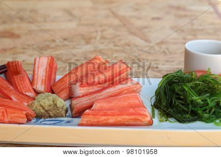 Crab Sticks On A Plate