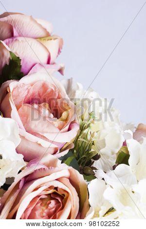 Close Up Of Silk Peonies