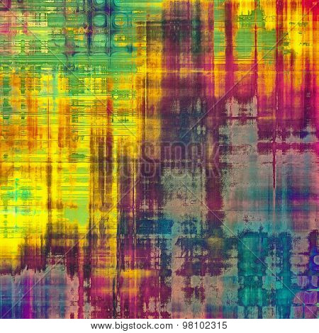 Abstract grunge background. With different color patterns: yellow (beige); blue; purple (violet); red (orange); green
