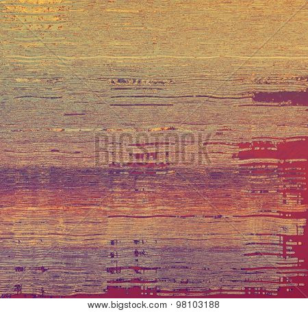Old grunge background with delicate abstract texture and different color patterns: yellow (beige); brown; purple (violet); pink