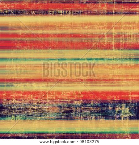 Grunge aging texture, art background. With different color patterns: yellow (beige); blue; red (orange); green