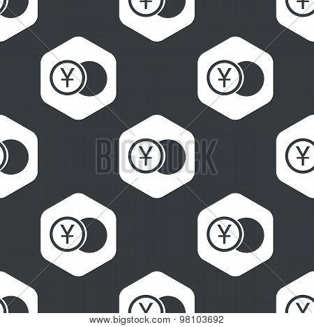 Black hexagon yen coin pattern