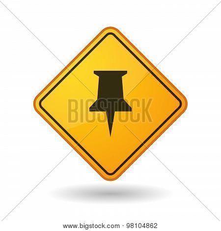 Awareness Sign With  A Push Pin