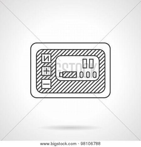 Smart panel line vector icon