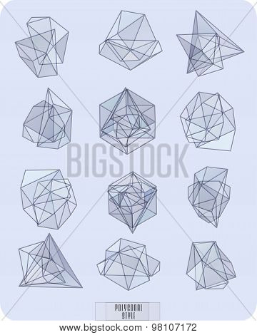 Abstract triangles  design