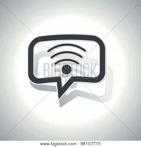 Curved Wi-Fi message icon