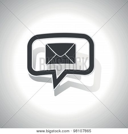 Curved letter message icon
