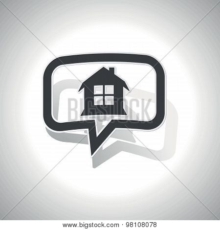 Curved house message icon