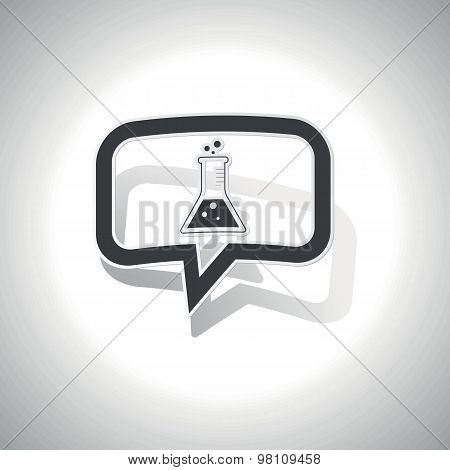 Curved conical flask message icon
