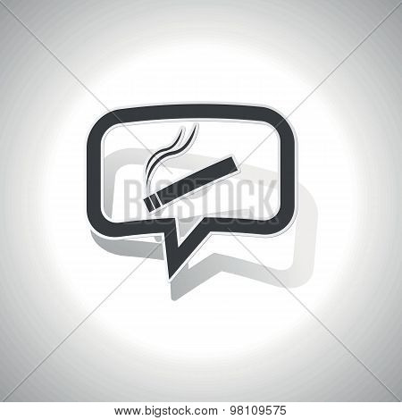 Curved smoking message icon