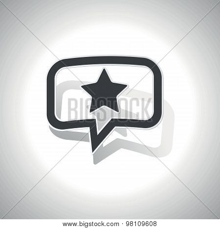 Curved star message icon