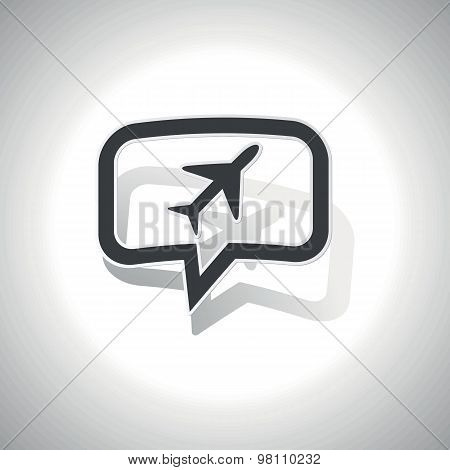 Curved plane message icon
