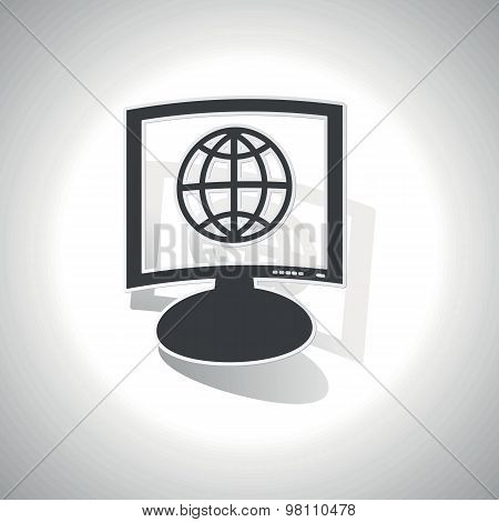 Curved globe monitor icon