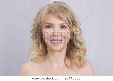 Blonde smiling