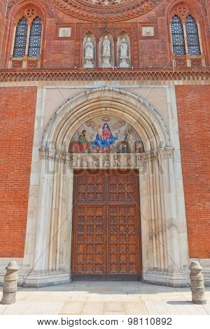 Portal Of Church Of San Marco In Milan, Italy
