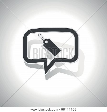Curved string tag message icon