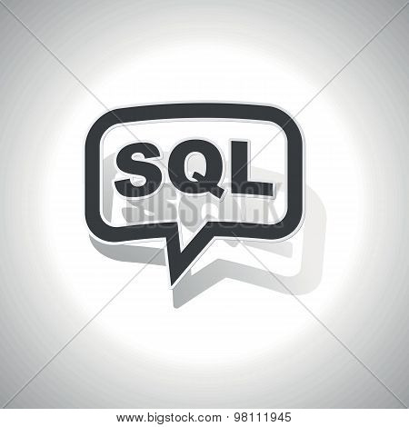 Curved SQL message icon