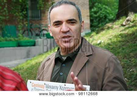 Politician the world chess champion Garry Kasparov to protest in support of Khodorkovsky