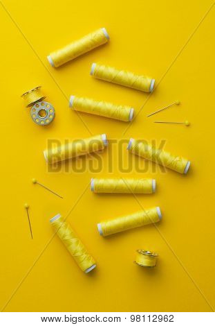 Yellow Thread Spools