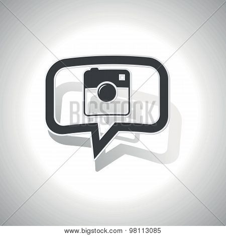 Curved square camera message icon