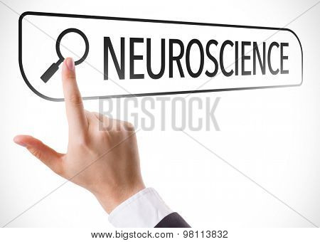 Neuroscience written in search bar on virtual screen