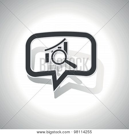 Curved graphic examination message icon