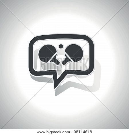 Curved table tennis message icon