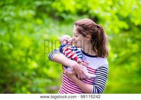 Mother And Baby In A Park
