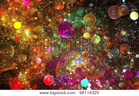 Illustration Fractal Abstract Background Pattern With Balls